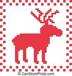 Deer with norwegian pattern texture