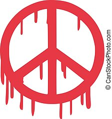 Bloody peace sign
