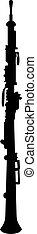 黑色半面畫像, 雙簧管