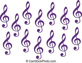 Set of clefs