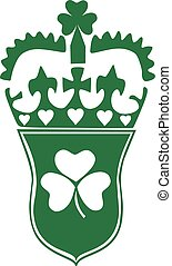 St. Patrick's Day badge with clover