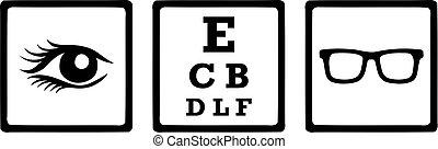 Optician Icons Eye