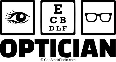 Optician Icons Eye