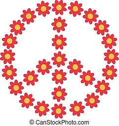 Flower power piece sign