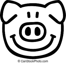 Pig head comic