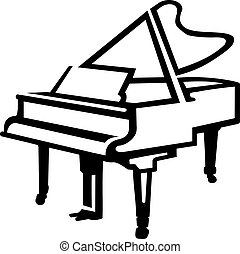 Grand Piano sketch style