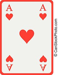 Playing card heart ace