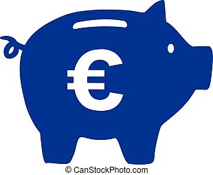 Piggy Bank with euro sign