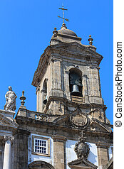 St. Francis Church, Porto. - Bell tower top of St. Francis...