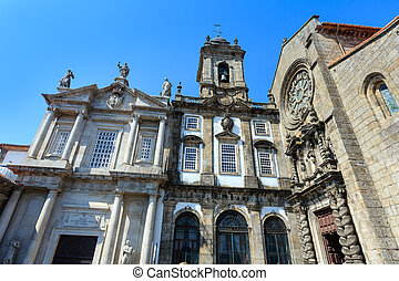 St. Francis Church, Porto. - Baroque main portal and Gothic...