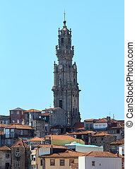 Porto city top view (Portugal). - Porto city top cityscape...