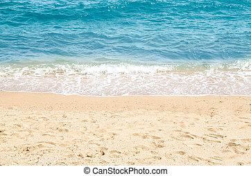 sommer,  Sand, sandstrand, hintergrund