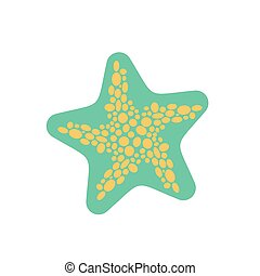 Starfish isolated. Sea animals on white background. aquatic mollusk star