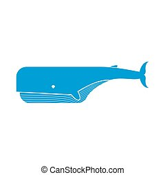 Keith isolated. Large sea mammal on white background - Whale...