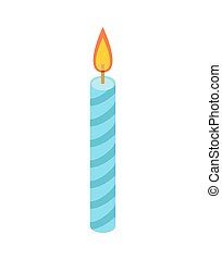 Candle for birthday cake. Accessory holiday pie