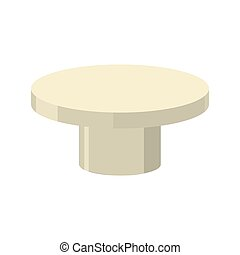 Bronze pedestal isolated. Stand for rewarding on white background