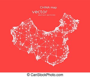 Vector abstract illustration of Chinese map. EPS 10