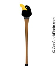 walking stick with head eagle. gentleman accessory