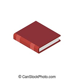 Closed book isolated. Old volume on white background
