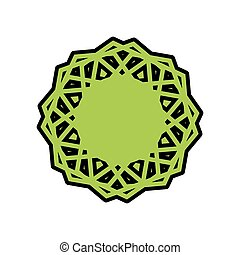Halal template for Islamic pattern. Logo for properly cooked...