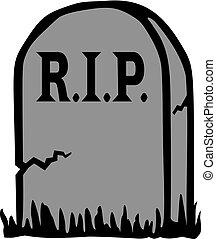 Gravestone with RIP