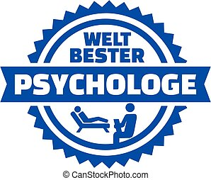 World's best Psychologist german button