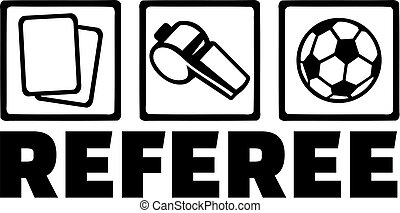 Referee icons with word
