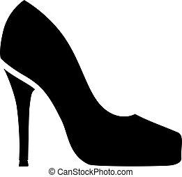 High heel symbol
