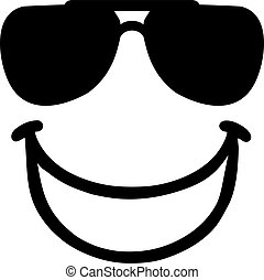 Smiley with laughing mouth and sunglasses