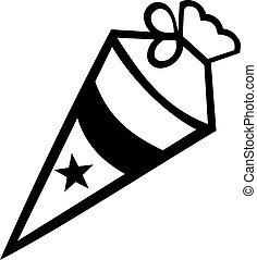 School cone with star
