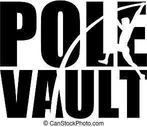 Pole Vault with silhouette