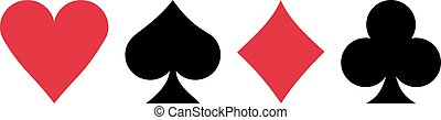 Poker Four playing cards suits