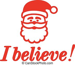 Santa Claus head with I believe