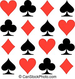 Poker playing cards icons