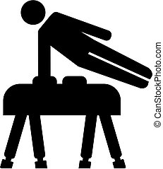 Pommel horse exercise pictogram