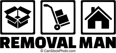 Removal man icons