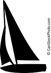 Sailing boat silhouette