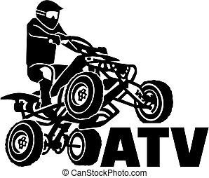 ATV driver with word