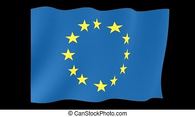 European Union flag. Waving - Flag animation Useful for...