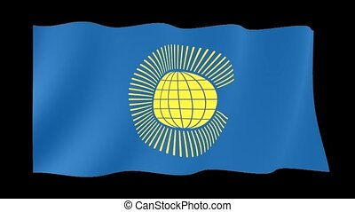 Flag of Commonwealth of Nations. Waving flag - Flag...