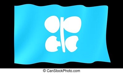 Opec flag. Waving computer animatie. - Flag animation for...