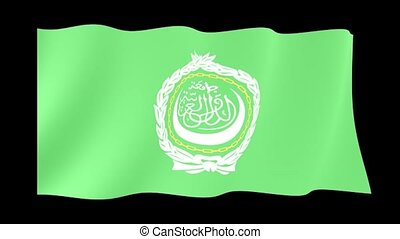 Arab League flag. Waving - Flag animation for using in...