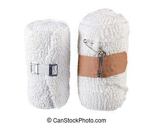 Bandages on White Background