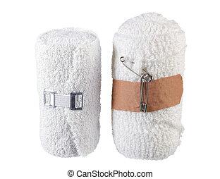 Bandages on White Background