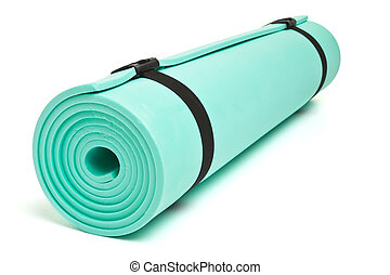 Bed roll - Lightweight foam Camping Bed roll isolated on...