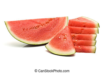 Watermelon Abstract - Abstract image of different shaped...