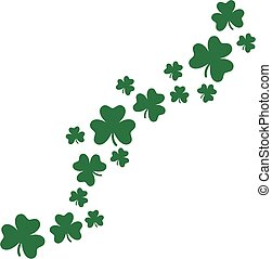 Flying shamrocks background