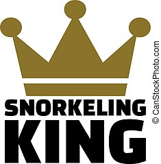 Snorkeling King with crown