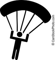 Parachuting Icon