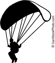 Skydiving Silhouette Real
